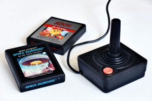 Atari joystick and games