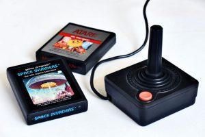 Atari joystick and games